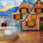 Alan Carr's 12 Stars of Christmas - on set