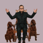 Alan Carr with Bev and Joyce