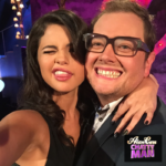 Alan Carr with Selena Gomez