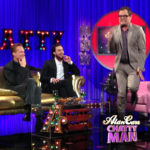Alan Carr with Aaron Taylor-Johnson and Paul Bethany