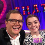 Alan Carr and Maisie Williams