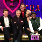 Alan Carr Chatty Man with BBC The Voice judges Ricky Wilson, Sir Tom Jones, Rita Ora and Will I Am.
