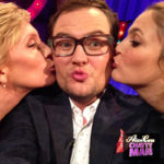 Alan Carr with Toni Colette and Drew Barrymore