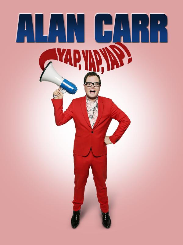 Alan Carr Yap Yap Yap tour poster