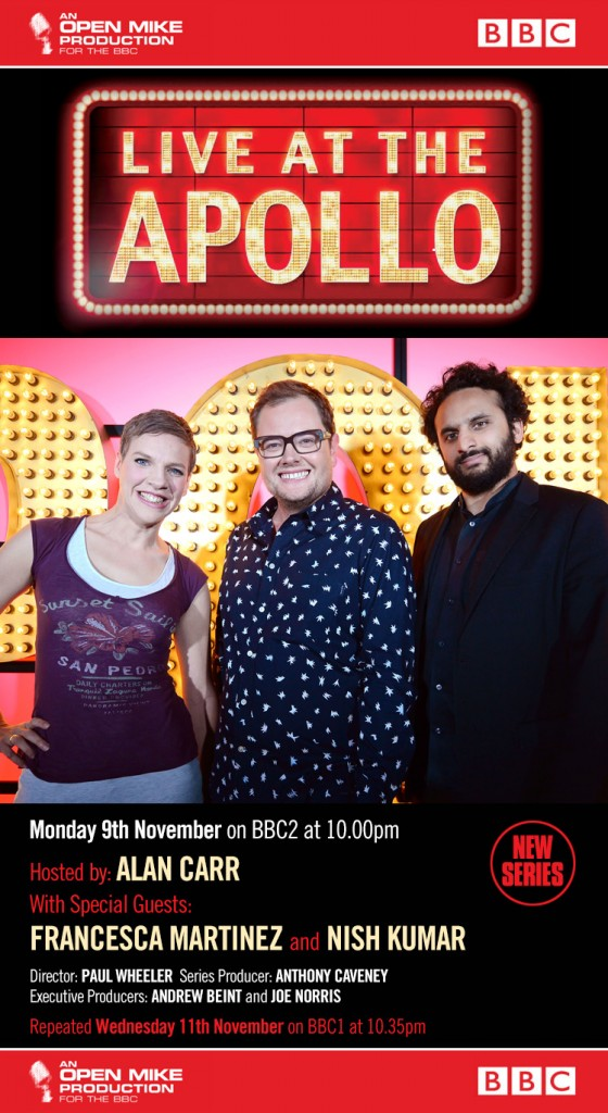 Live at the Apollo with Alan Carr, Nish Kumar and Francesca Martinez