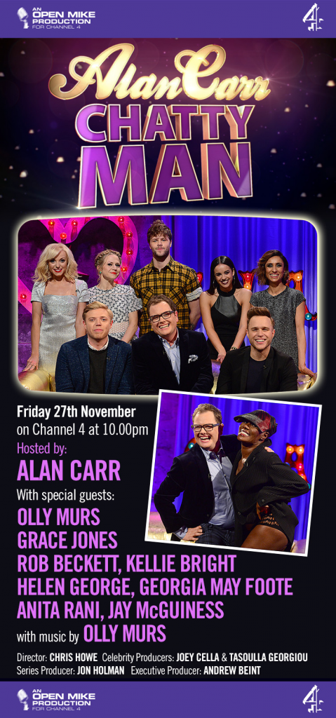 Alan Carr Chatty Man with Grace Jones, Olly Murs, Strictly Come Dancing stars and Rob Beckett